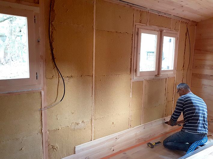 isolation roulotte laine de bois murs by stef menuisier. Black Bedroom Furniture Sets. Home Design Ideas