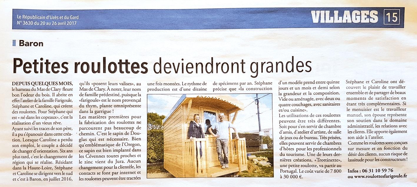 Roulottes Farigoule Baron Gard
