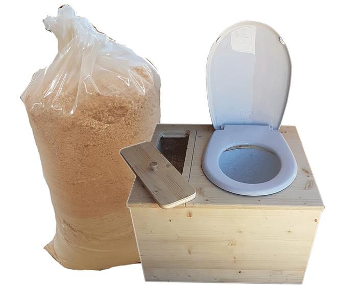 toilette seche copeaux wc sec