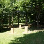 roulotte fixe sur plot roulotte Farigoule by Stef menuisier