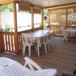 Terrasse bois de mobil-home