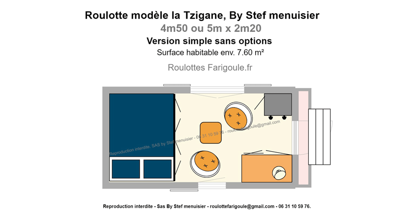 roulotte Farigoule Tzigane France agencee pas chere