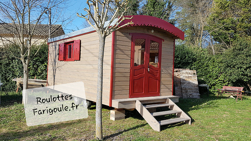 Roulotte atelier By Stef menuisier Roulottes Farigoule