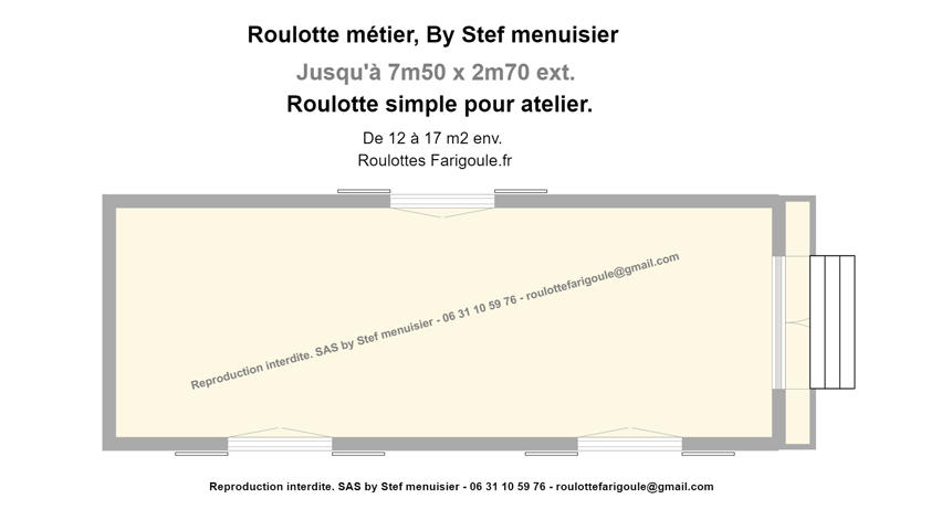 Plan roulotte atelier By Stef menuisier Roulottes Farigoule